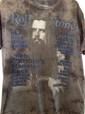 Rob Zombie Rolling Stone Collection Magazine Cover T Shirt Grey Large Monster