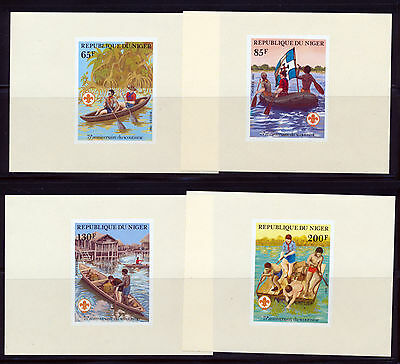 Niger 1982 Boy Scouts Set Of Imperf Deluxe Sheets Scott 586-89