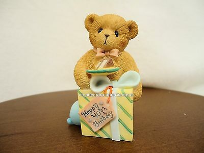 Cherished Teddies Birthday Bear Age 40  2005 NIB