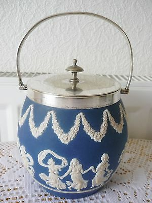Antique Adams Tunstall Pottery Biscuit Barrel/tea Caddy With Raised Pattern