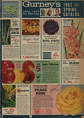 1962 Gurney's Oversize Spring Seed and Garden Catalog - 56 Pages -Nice Condition