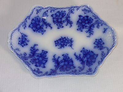 Antique Johnson Brothers Flow Blue China ~ CLAREMONT ~ Small Platter