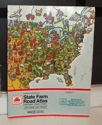 Rand Mcnally Road Atlas State Farm Insurance 1994