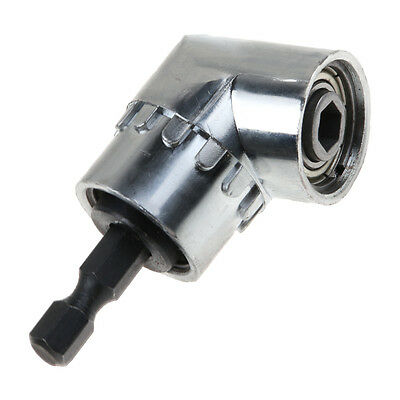 """105° Right Angle Head Holder 1/4"""" Hex Shank For Power Drill Bit Screwdriver"""