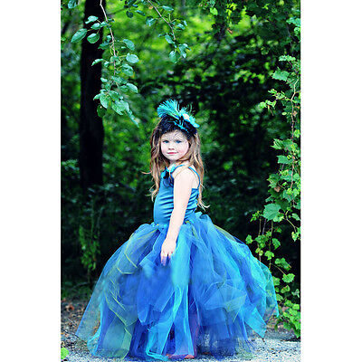 New Flower Girl Dress Kids Formal Dres Pageant Birthday Wedding Bridesmaid Gown