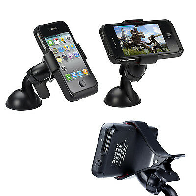 Universel Support Voiture Rotatif Pare-Brise AUTO Pour iPhone SAMSUNG HUAWEI GPS
