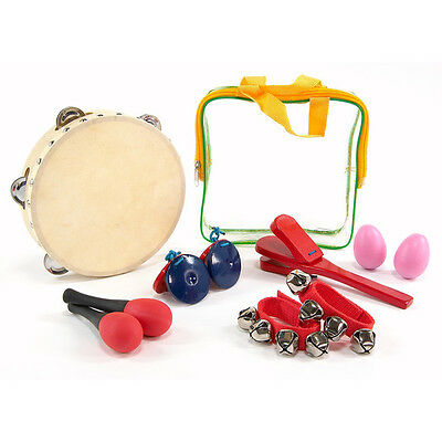 6 Piece Percussion Set with Carry Bag