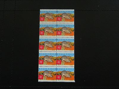 Australia Stamps SG 2201 block of 10 issued 2002 value $1.00 x 10 condition MNH.