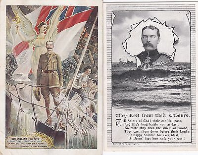 WW1 1916 The DEATH of Lord Kitchener HMS Hampshire (Superb Cards)