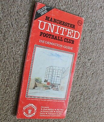 MANCHESTER UNITED FC 1984/85 Information Guide RARE