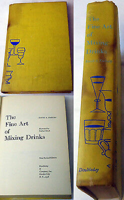 1958 David A. Embury ~ FINE ART OF MIXING DRINKS, illustrated by Nathan Gluck
