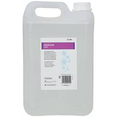 QTX 5 litre of snow fluid - For use with all snow machines - Free Fast Delivery