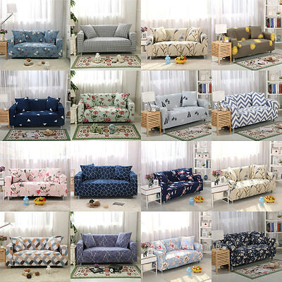 L-Shaped Stretch Sofa Covers Chair Covers Couch Slipcovers 1 2 3 Seater 9 Styles