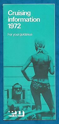 P & O Cruising Information Booklet 1972