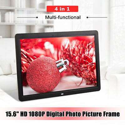 12'' HD LED Digital Photo Frame Picture Alarm Clock MP4 Movie Player Frameless