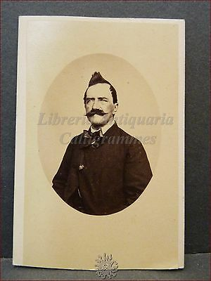 ARTISTA Pittore Scultore ? Photo CDV 1860/1870 ca. Alphonse Bernoud Foto