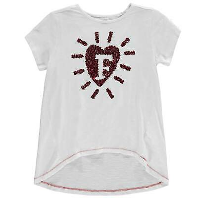 French Connection Kids Heart T Shirt Tee Top Junior Girls Summer Casual