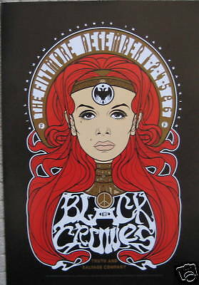 BLACK CROWES Fillmore Poster ORIGINAL BILL GRAHAM Truth & Salvage F1033  Scrojo