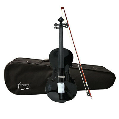 Forenza Uno Series Full Size Black Violin Outfit - Factory Seconds