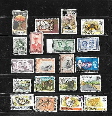 Swaziland 20 Different Postally Used & Mint Stamp Collection Lot Set Packet
