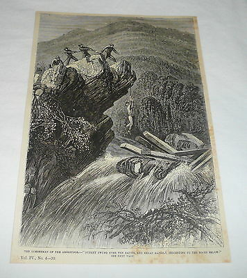 1877 magazine engraving ~ LUMBERJACK OF THE AROOSTOCK, Maine