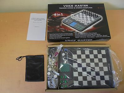 Powerbrain Voice Master Talking Chess & Games Computer Complete
