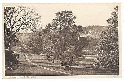 AXMINSTER The Lawn, Old Postcard by Snell, Unused