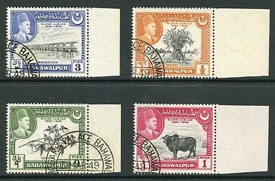 Bahawalpur SG39 1949 Silver Jubilee of Accession Marginal Set Fine Used