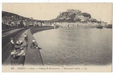 JERSEY Gorey, Montorgueil Castle #151 Postcard by LL / Levy Unused