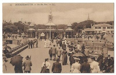 BOURNEMOUTH On the Pier #25, Postcard by LL / Levy Postally Used 1907
