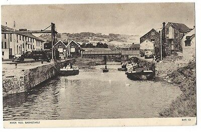 BARNSTAPLE River Yeo, Old Postcard by Jarrold, Postally Used 1958