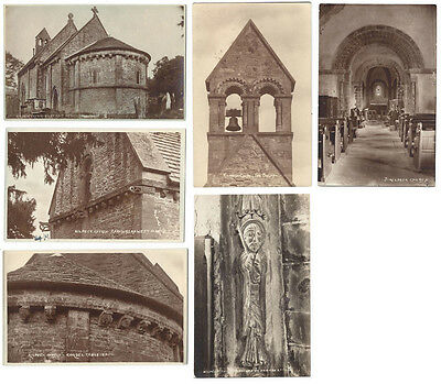 KILPECK CHURCH Herefordshire, 6x RP Postcards by WA Call, All Unused