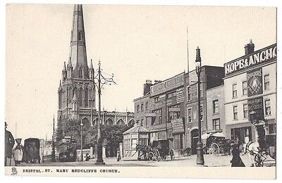 BRISTOL St Mary Redcliffe, Good Early Image, Old Postcard by Tuck, unused