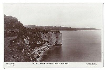 STUDLAND The Bay from the Foreland, RP Postcard by Lilywhite, Unused