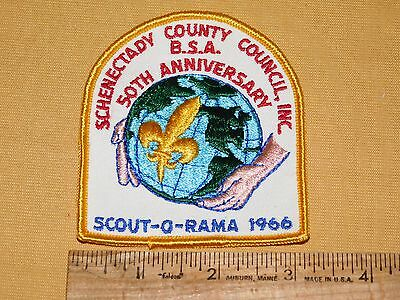 Vintage Bsa Boy Scouts Of America Patch 1966 Schenectady 50Th Anniv Scout-O-Rama