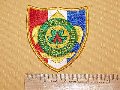 Vintage Bsa Boy Scouts Of America Patch Schiff Scout Reservation