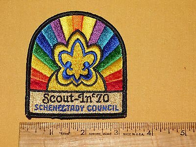 Vintage Bsa Boy Scouts Of America Patch 1970 Scout In 70 Schenectady Council