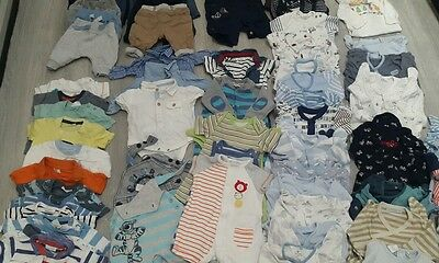 Huge Bundle Of Baby Boys Shirts Trousers Jackets Baby Grows T Shirts 0-3m Next