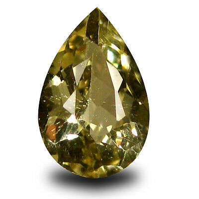 1.21 ct AAA Excellent Pear Shape (9 x 6 mm) Yellow Heliodor Beryl Gemstone