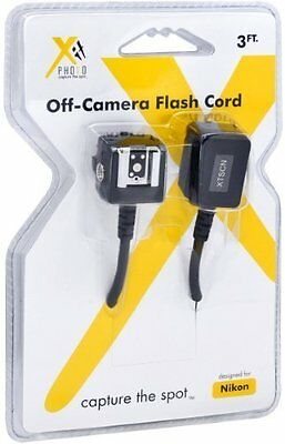 Xit XTSCN Heavy Duty Off-Camera Flash Cords that Stretch to 7.5-Feet for N