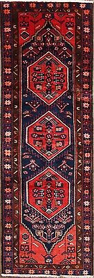 "Great Deal Geometric Runner 3x10 Hamadan Persian Oriental Rug 9' 10"" x 3' 4"""