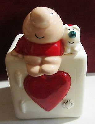 Vintage Ziggy and his dog Fuzz ceramic Bank