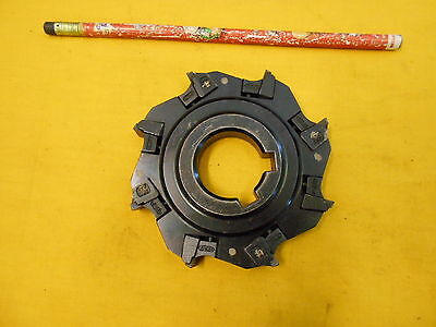 """VALENITE USA 4"""" INDEXABLE CARBIDE INSERT MILL CUTTER milling tool holder"""