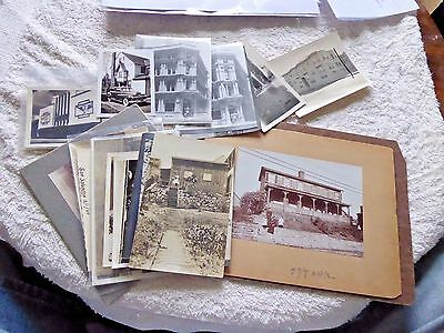 VINTAGE ORIGINAL LOT OF 16 PHOTOs OLD BUILDINGS EARLY 1900'S