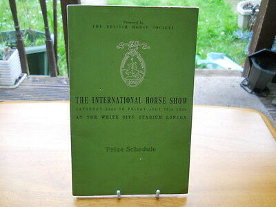 The International Horse Show - Schedule of Events & Prizes, White City, 1950