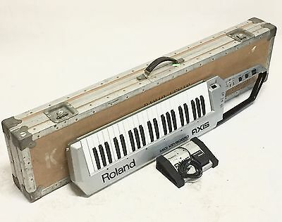 Roland AXIS-1 Keytar MIDI Controller Synthesizer Keyboard Anvil Case & Switch!