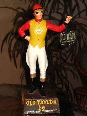 Rare Vintage Old Taylor Whisky Bourbon Jockey Statue A+ Condition