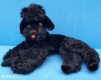 Steiff Hund Pudel Poodle Snobby Stofftier Dog Knopf Mohairplüsch 35 Cm