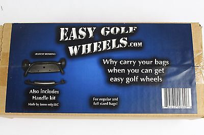 Easy Golf Wheels Golf Bag Attachable Wheels and Handle