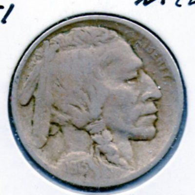 1913 Type 1 Buffalo Nickel nice collector coin Free shipping inside the US